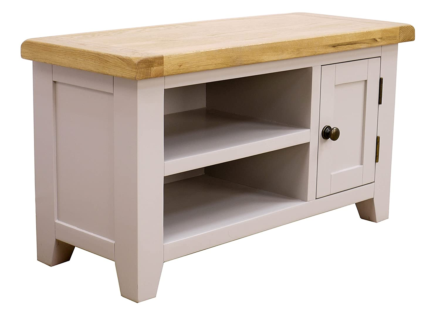 Oak Cabinets Living Room Arklow Painted Oak Dovetail Grey Corner Tv Stand Oak Corner Tv