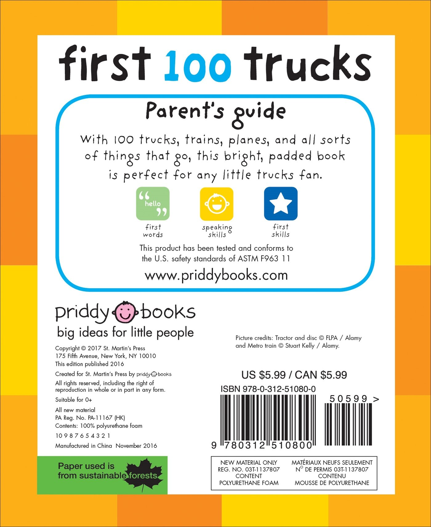 Amazon: First 100 Trucks: And Things That Go (9780312510800): Roger  Priddy: Books