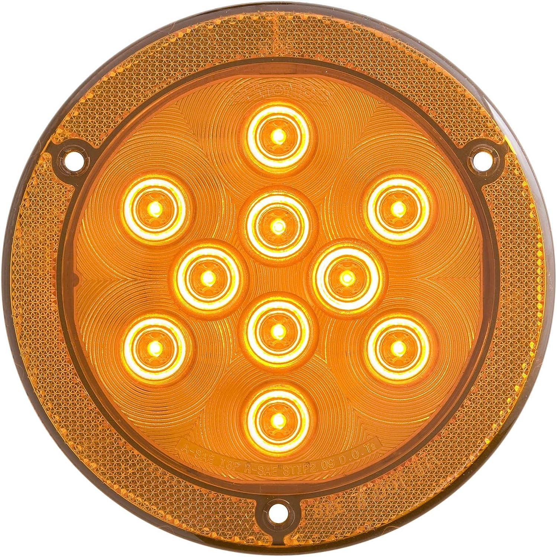 Optronics SLL43AKB1P Amber 4 Oval Sealed LED Warning Lamp Kit