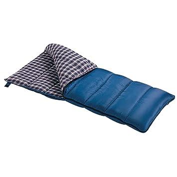 Wenzel Schlafsack Blue Jay 20-2,2 Kg, Regular - Saco de dormir rectangular para acampada, color azul, talla Derecha: Amazon.es: Deportes y aire libre