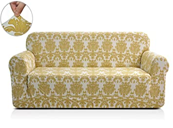 Attractive Amazon.com: CHUN YI Chunyi Printed Sofa Covers 1 Piece Spandex Fabric  Slipcover (Loveseat, Yellow Flower): Home U0026 Kitchen