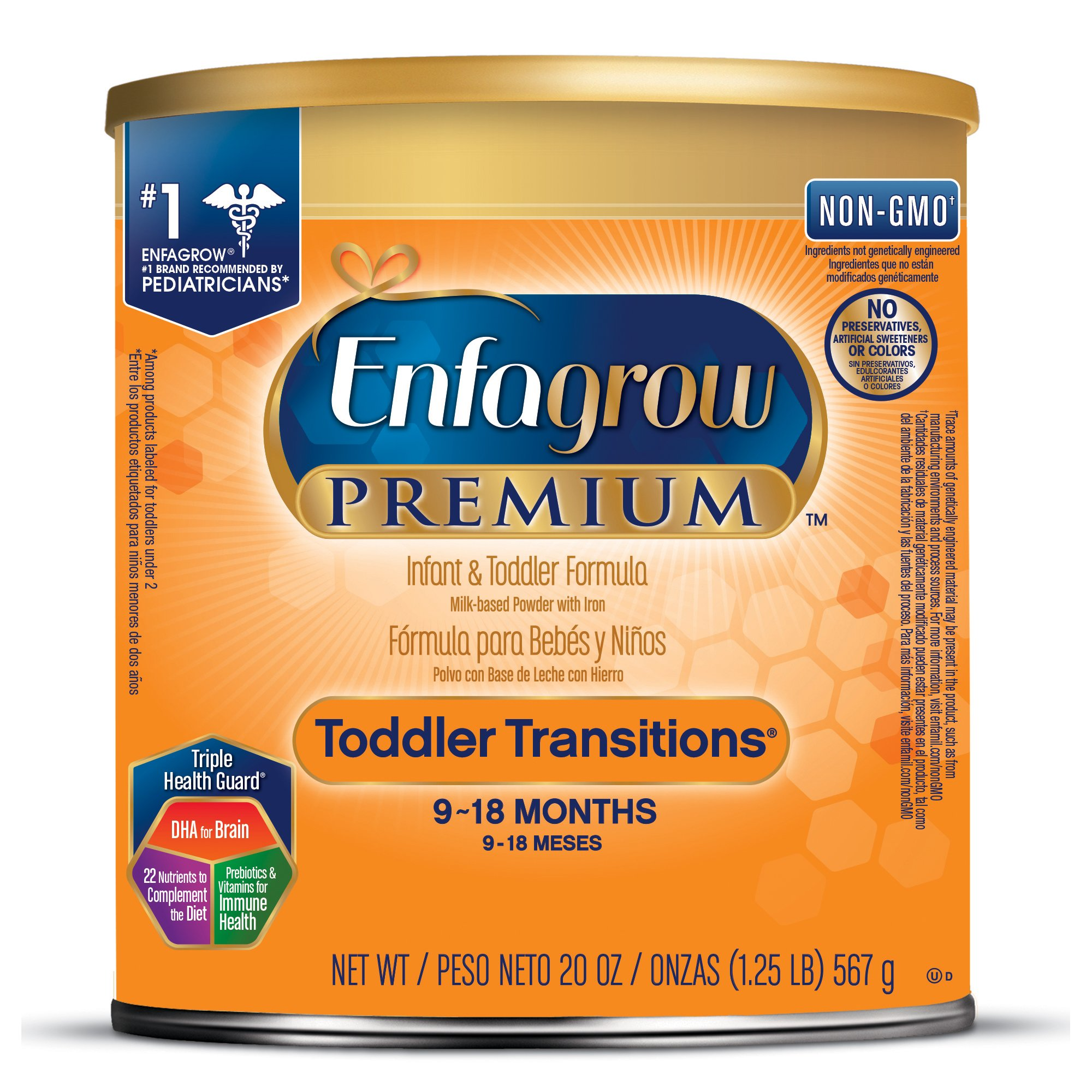 Enfagrow PREMIUM Non-GMO Toddler Transitions Formula - Powder can, 20 oz by Enfamil