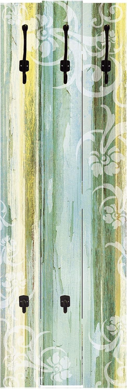 Artland Qualitätsmöbel I Garderobe Wandpaneele mit Motiv 45 x 140 cm Botanik Blumen Digitale Kunst Türkis A6CF Blumenornamente im modernen Stil