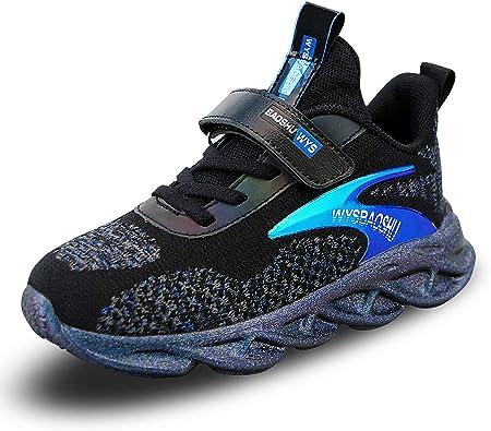 Zapatillas Deportivas Niños Running Casual Zapatos Deporte Transpirables Sneakers Velcro para Niño Niña: Amazon.es: Zapatos y complementos