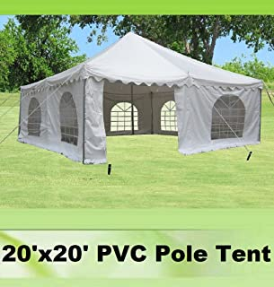 20u0027x20u0027 PVC Pole Tent - Heavy Duty Wedding Party Canopy Shelter White - & Amazon.com : 30u0027x20u0027 PVC Pole Tent - Heavy Duty Wedding Party ...