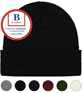 8b5e9af7c5fe5 Blueberry Uniforms Merino Wool Beanie Hat -Soft Winter and Activewear Watch  Cap