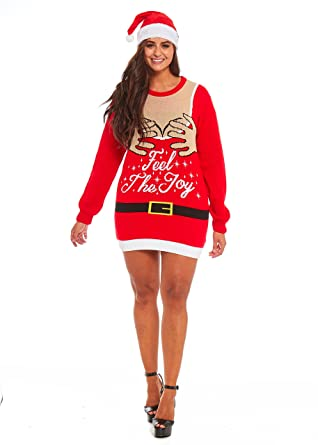 you look ugly today ladies christmas sweater feel the joy small - Feel The Joy Christmas Sweater