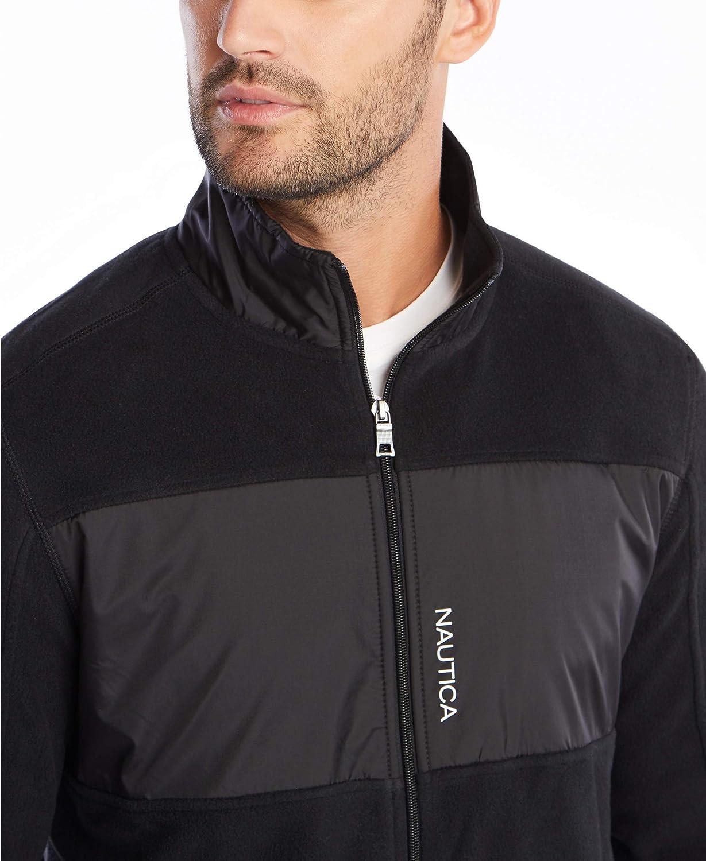 Nautica Mens Full-Zip Mock Neck Fleece Sweatshirt