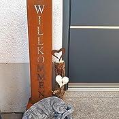 rostikal willkommen st nder rost schild dekoration f r hauseingang in edelrost. Black Bedroom Furniture Sets. Home Design Ideas