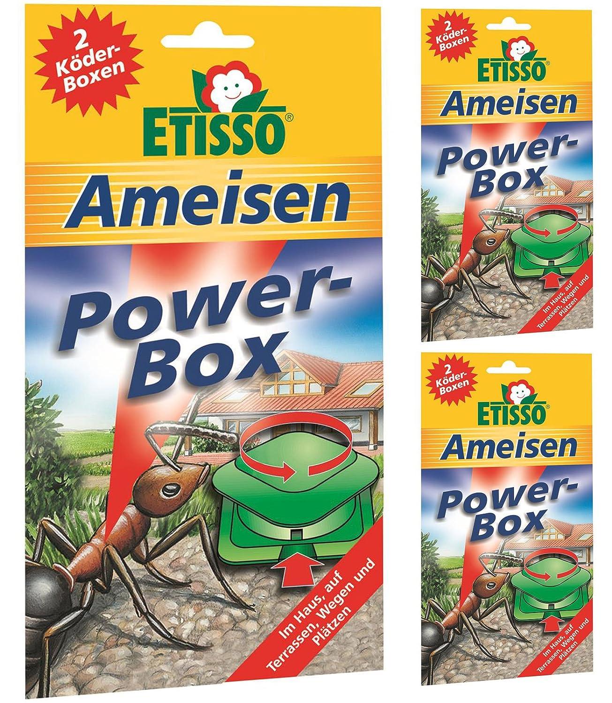 3 x 2 (6 Stk) ETISSO Ameisen Power-Box Ameisenmittel Frunol