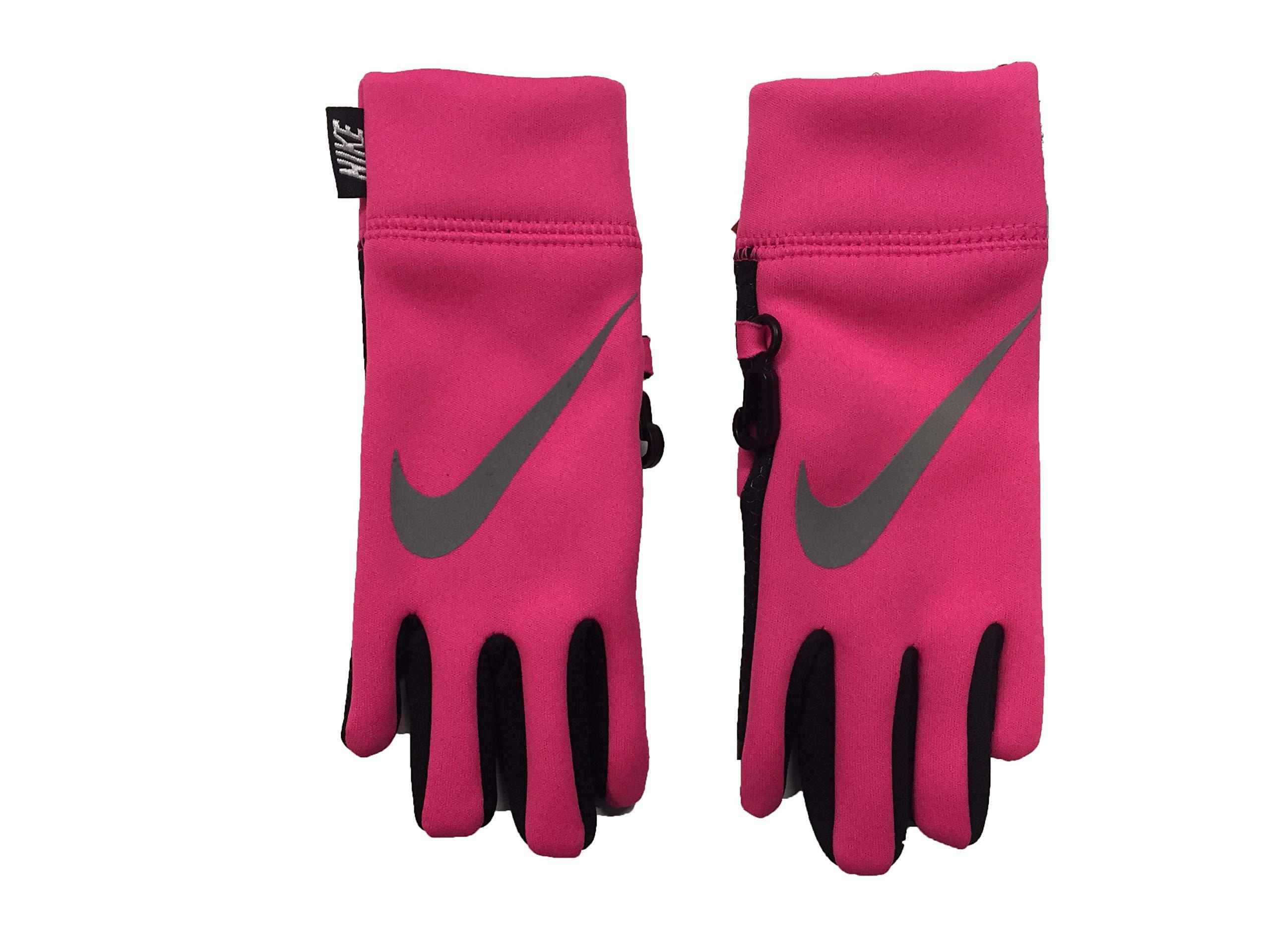 Nike Boy's Therma Reflect Gloves (4-6X, Hyper Pink(3A2600-A96)/Black)