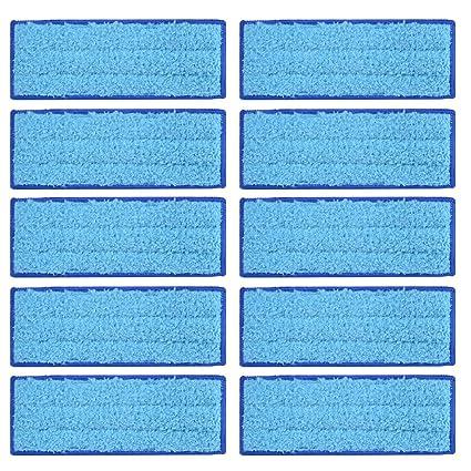 Kreema 10Pcs microfibra pano mojado almohadillas trapezoidales reutilizables reemplazables para iRobot Braava Jet 240/241