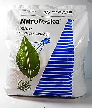 Nitrofoska Abono foliar 24-08-20. 5 Kilos. Primavera y brotacion. Fertilizante nitrogenado.: Amazon.es: Jardín
