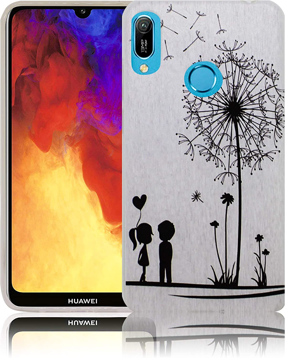 thematys Suitable for Huawei Y9 2019 Comic Haha Mobile phone case silicone dustproof shockproof /& lightweight Smartphone case