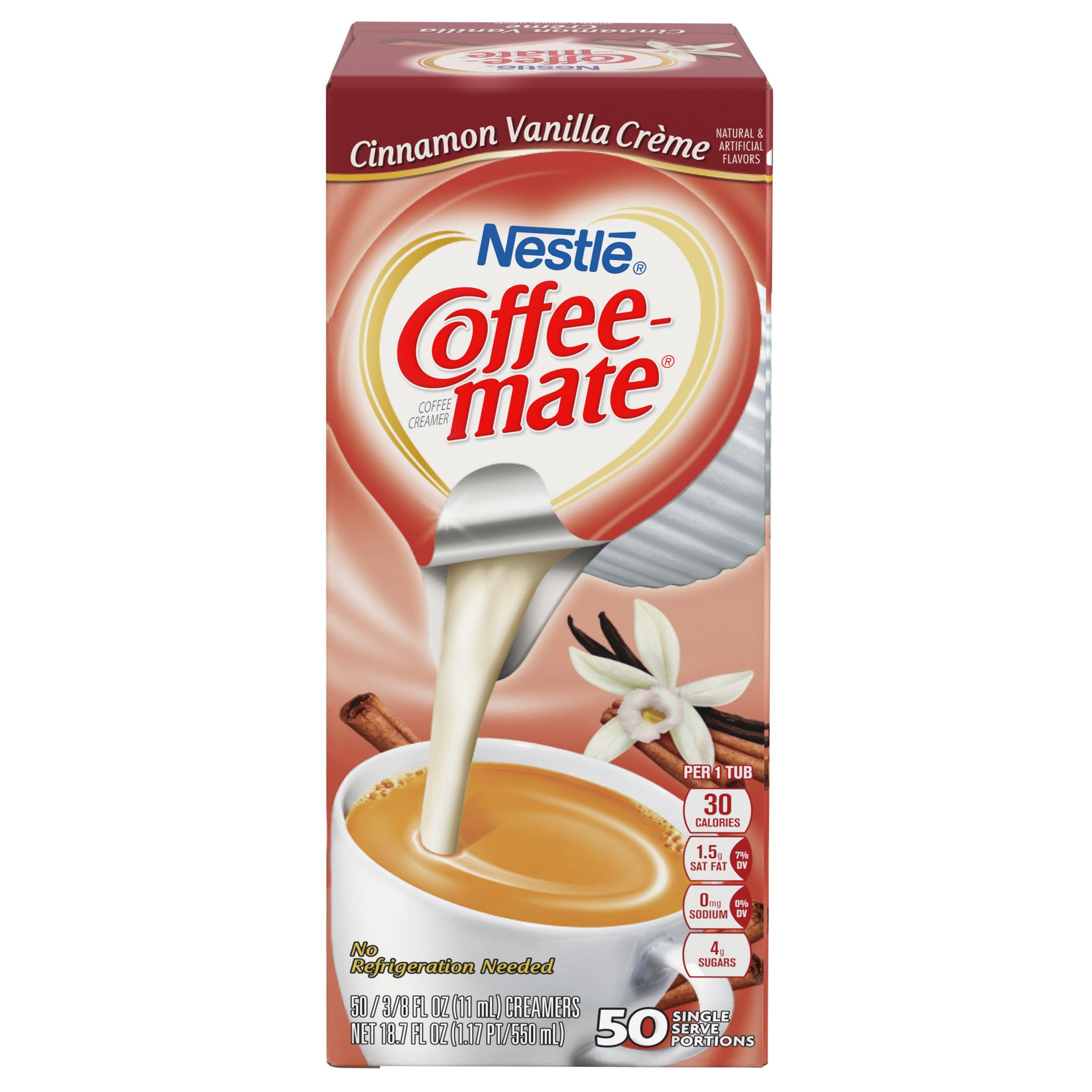 NESTLE COFFEE-MATE Coffee Creamer, Cinnamon Vanilla Creme, 0.375oz liquid creamer singles, 50 Per Box (Case of 4 Boxes) by Nestle Coffee Mate (Image #4)