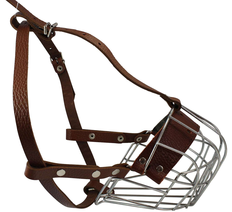 Metal Wire Basket Dog Muzzle Padded Large redtweiler. Circumference 15 Length 4.5