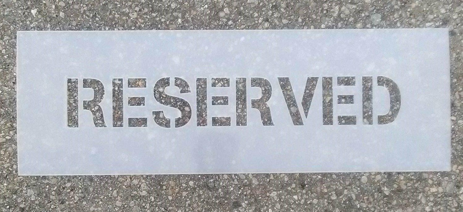 3 InchRESERVED Stencil - Industrial grade WeLoveGraphics