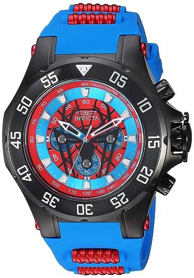 Invicta 25689 Marvel - Spiderman Reloj para Hombre acero inoxidable Cuarzo Esfera rojo: Amazon.es: Relojes