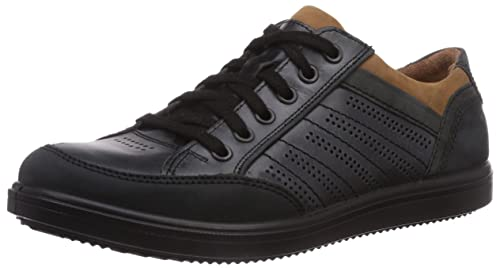 Jomos - Chaussures À Lacets En Cuir Pour Les Hommes, Couleur Noir, Taille 49 Eu