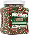 Christmas Sprinkles - Bulk Holiday Sprinkles - 1.6 LB Container - Red White and Green Jimmies