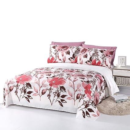 Beautiful Bedding Super Soft Egyptian Comfort Floral Sheet Set Red Red Rose