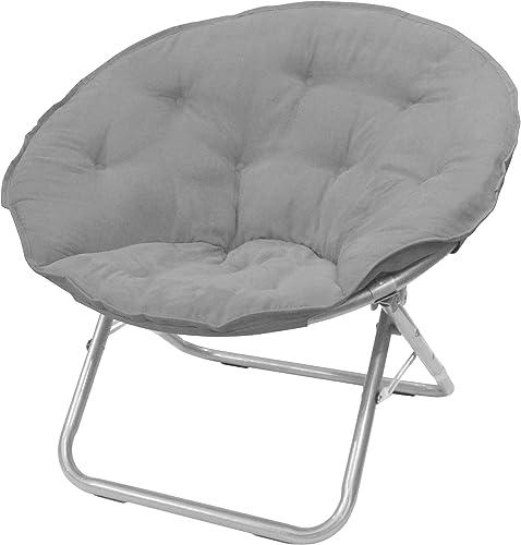 Urban Shop Microsuede Saucer Chair