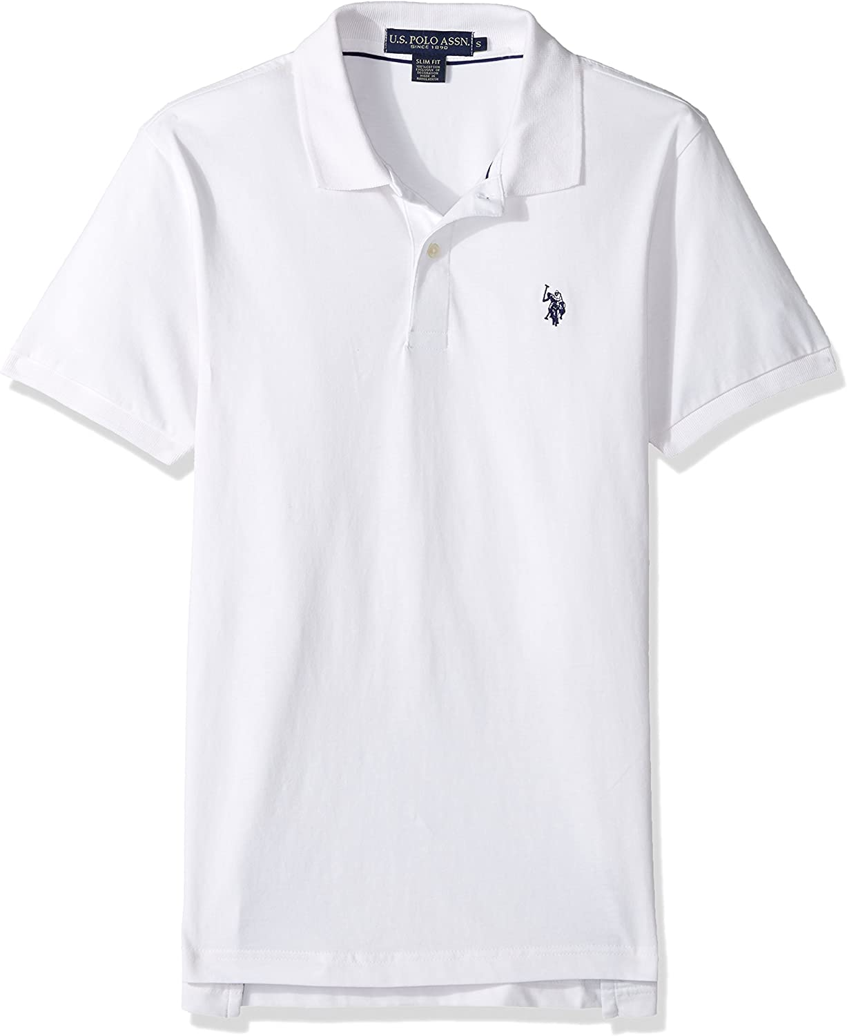 Mens Heavy Sueded Jersey Enzyme Garment Washed Polo Shirt U.S Polo Assn