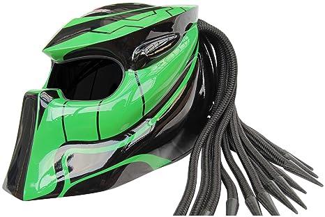 XFF Fiber Factory - Casco de moto Predator X1 Wildspeed Extra Large negro y verde