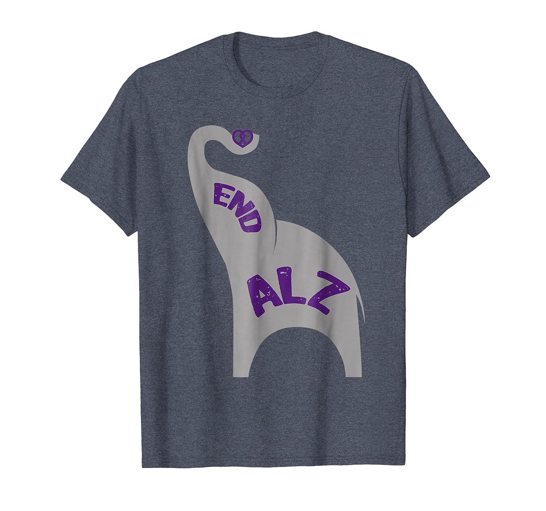 #ENDALZ Alzheimers Awareness Elephant Family Dementia Shirt-AZP