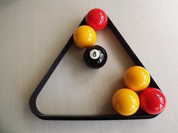 ClubKing - Triángulo para bolas de billar (plástico, 38 x 5 cm), color negro: Amazon.es: Deportes y aire libre