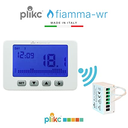 Plikc - Termostato Inalámbrico Digital de pared - Programación semanal &ndash
