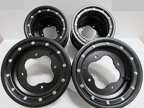 Honda TRX 450R 400EX 300EX delanteras y traseras negro ruedas ...