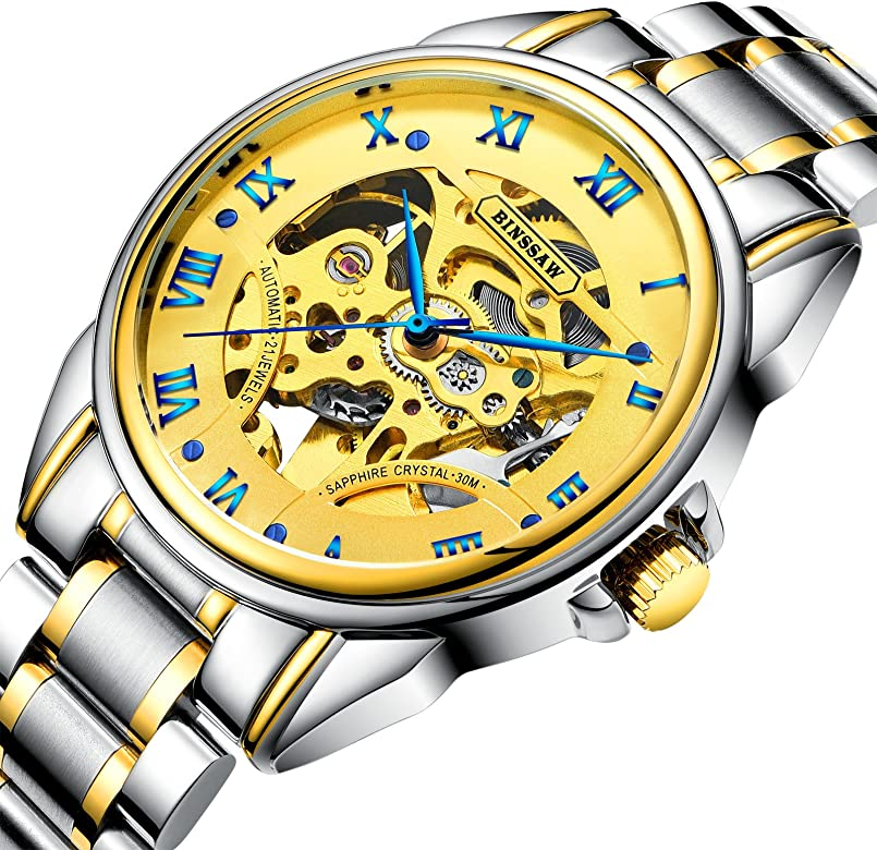 Mua BINSSAW Watch Brand Men Fully Automatic Mechanical Watch ...