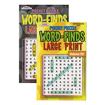 Kappa Pocket Puzzle Word Finds Large Print - Digest Size, Word Search Find Words Books for Adults Teens, Training Learning with Game (2/Pack): Office Products