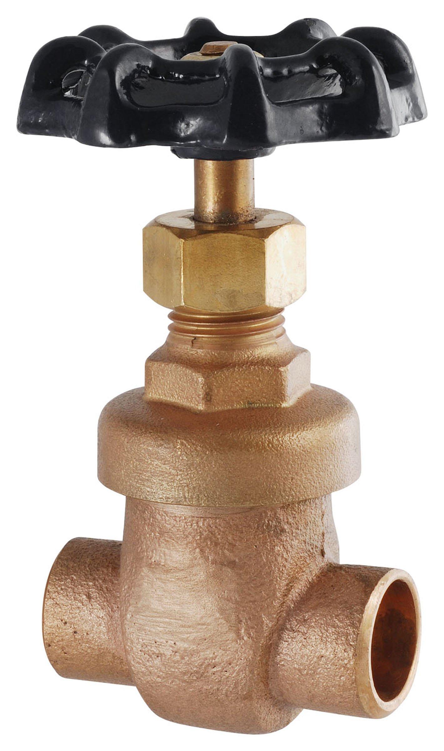 LDR 021 1215 1-Inch Sweat Gate Valve, Bronze