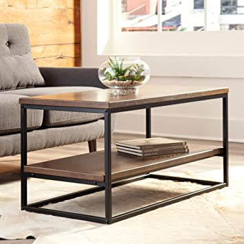 Amazon Com Ofm 161 Collection Industrial Modern Wood Top Metal