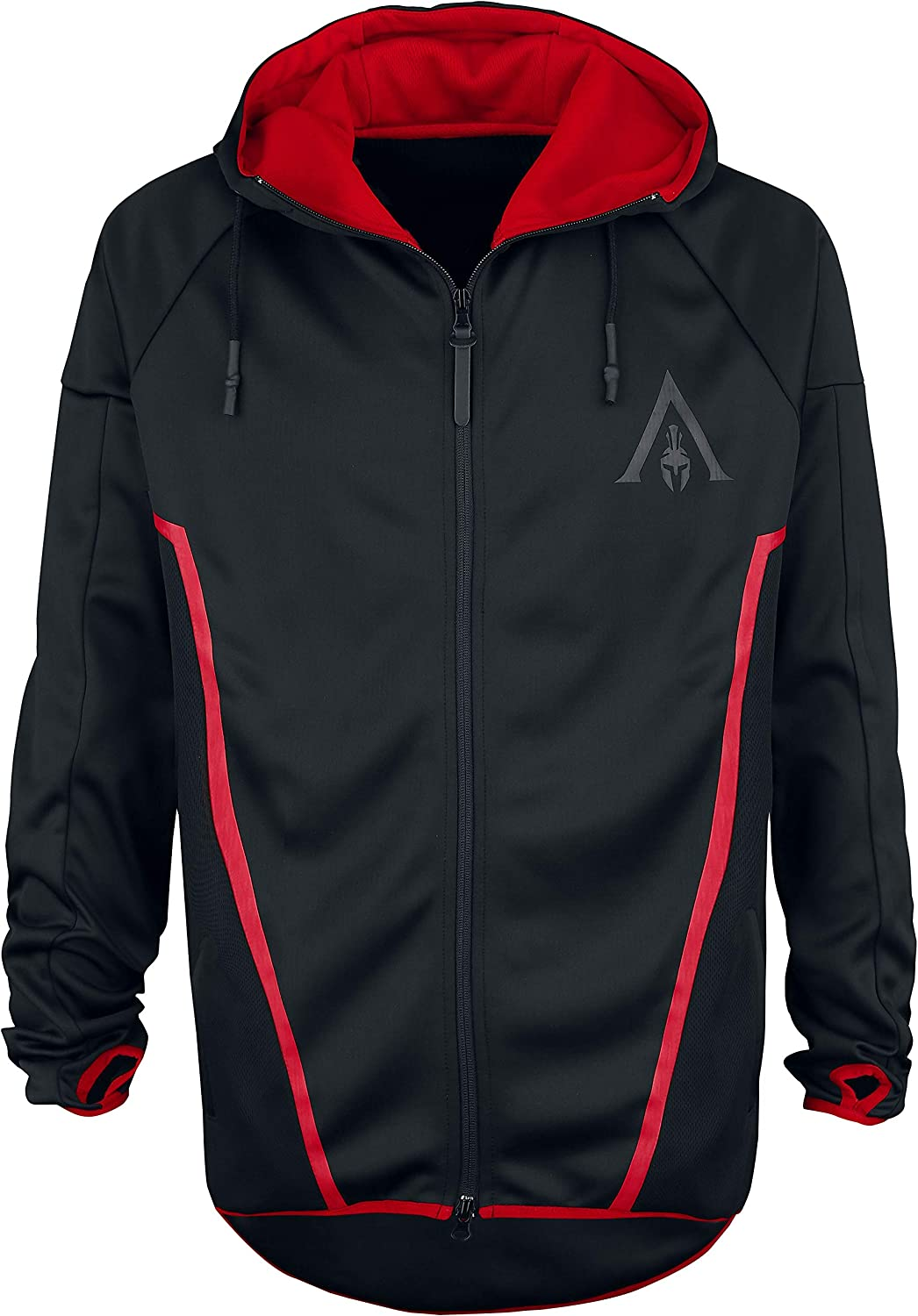 TALLA L. Assassin's Creed Sweatshirt Odyssey - Technical Hexagonal Men's Hoodie Black