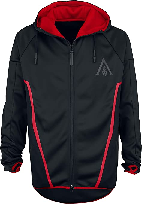 TALLA S. Assassin's Creed Sweatshirt Odyssey - Technical Hexagonal Men's Hoodie Black