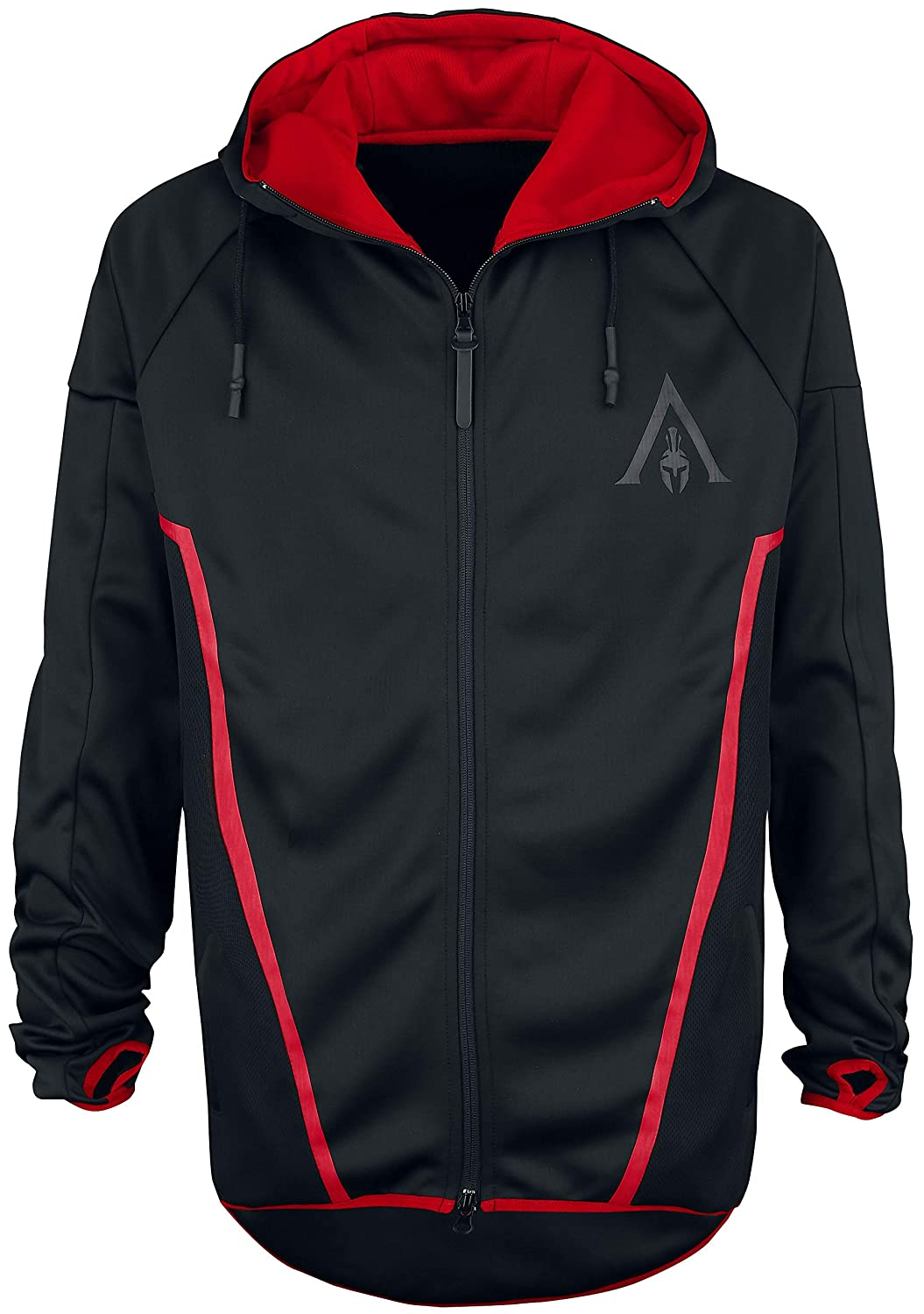 TALLA L. Assassin's Creed Odyssey - Technical Hexagonal Sudadera Capucha con Cremallera Negro
