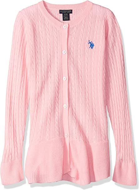 U.S. Polo Assn. Girls Toddler Pullover Sweater, as Cable Cardi ...