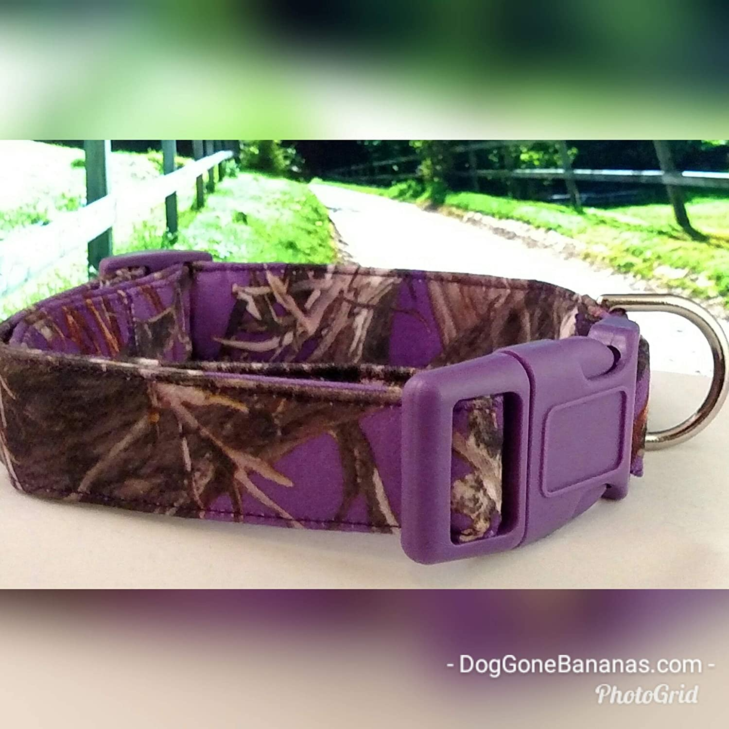 Purple Camo Dog Collar with Leash Option