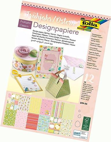 "folia Designpapierblock /""Sweet/"" 165 g//qm DIN A4 12 Blatt"