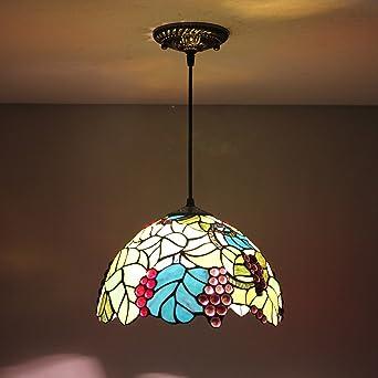 12-Inch Vintage Pastoral Tiffany - Lámpara de techo, diseño ...