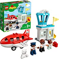 LEGO 10961 DUPLO Town Aeroplane & Airport Playset with Airplane and Pilot Figure, Learning Toy for Toddlers 2+ Years