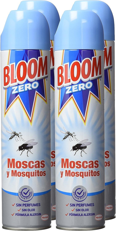 Bloom Zero Aerosol contra moscas y mosquitos 400ml, pack de 4