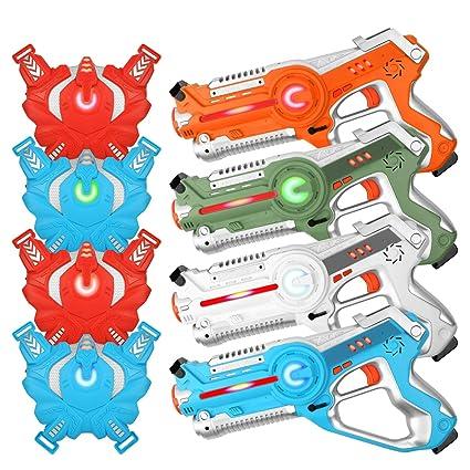 0b7bf2f29ed0c5 Amazon.com  Laser Tag Guns - Set of 4 Laser Guns - Best Toys for ...