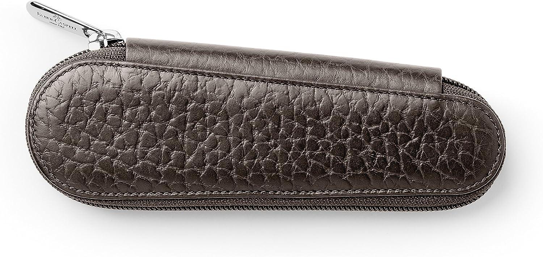 colore: Mar Faber Castell 189312 in pelle goffrata Astuccio porta penne con chiusura lampo 2 pz