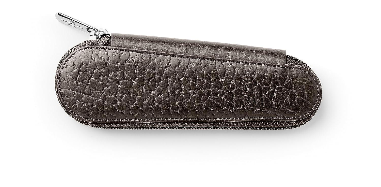 Astuccio porta penne con chiusura lampo 2 pz Faber Castell 189312 in pelle goffrata colore: Mar