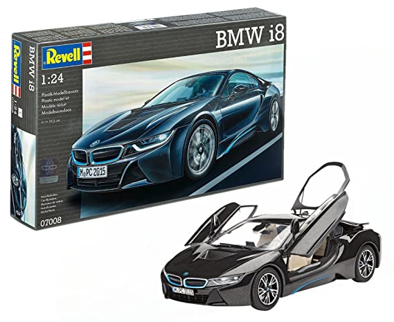 Revell Bmw I8 Model Kit 1 24 Scale 19 5 Cm Amazon Co Uk Toys Games