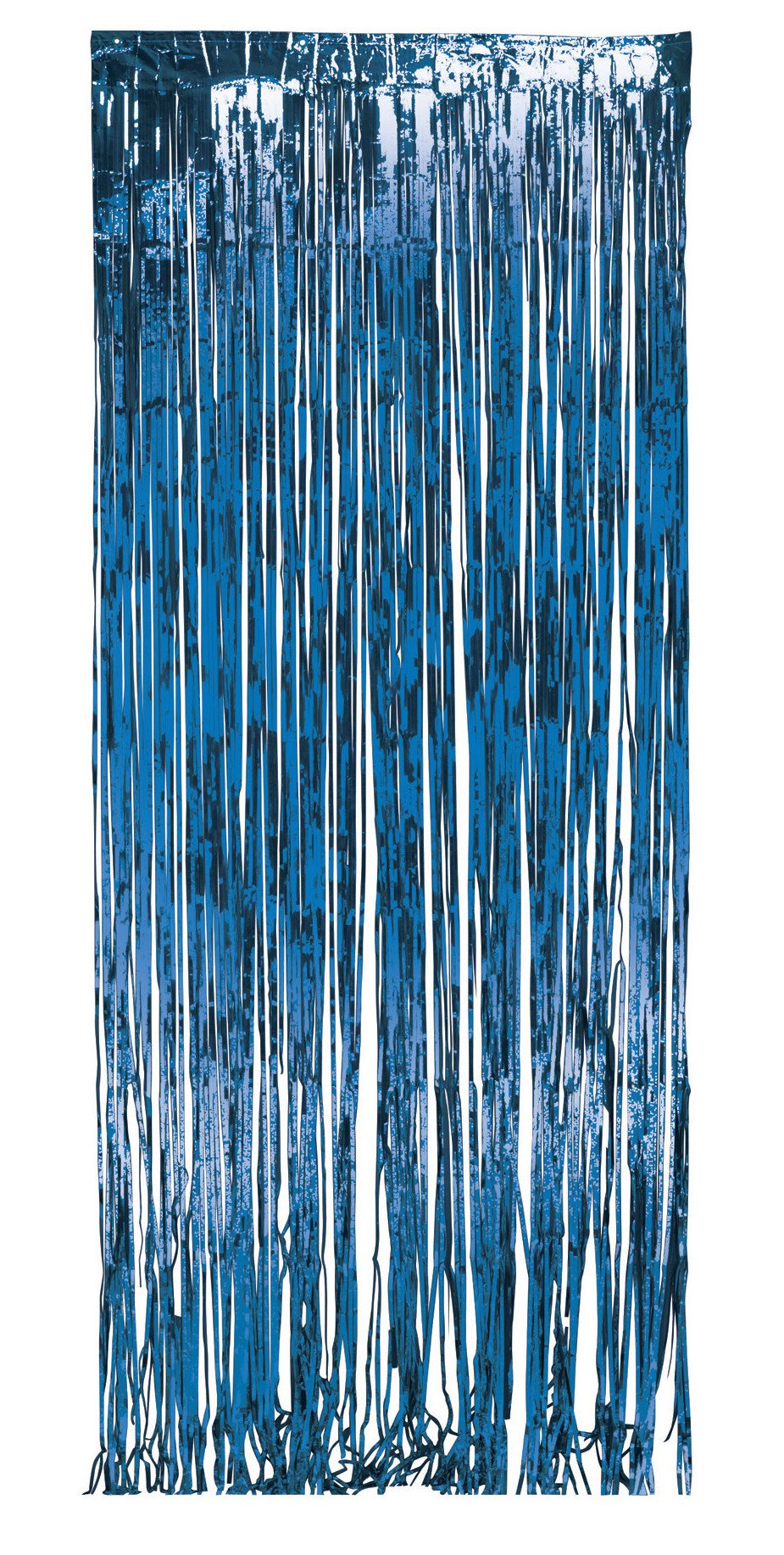 Creative Converting 141006 Foil Fringe Door Party Curtain, 3 x 8', Blue by Creative Converting